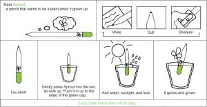 istruzioni matita sprout
