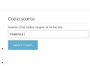 COUPON SCONTO