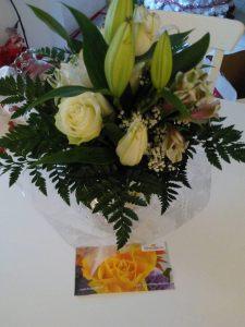 fiori e bigliettino